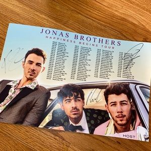 Jonas Brothers autographed poster vip